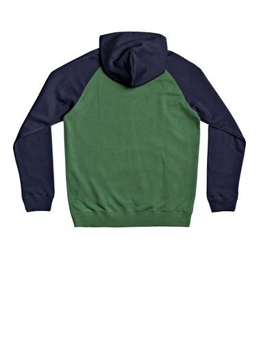 Quiksilver Quiksilver Everydayhood Cepli Kapüşonlu Koyu Erkek Sweatshırt Yeşil